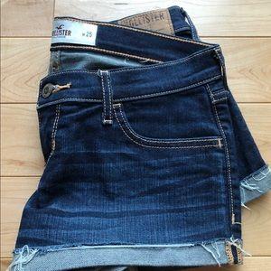 Hollister dark wash shorts